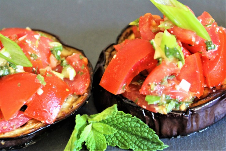California Appetizer Eggplant Bruschetta