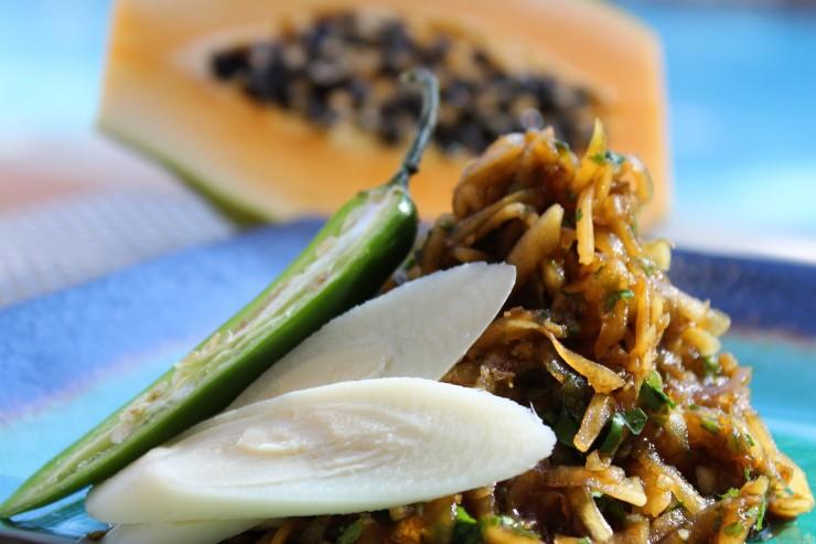 Seychelles Appetizer Green Papaya Salad