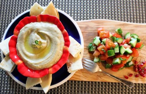 Baba Ganoush, Pita & Israeli Salad