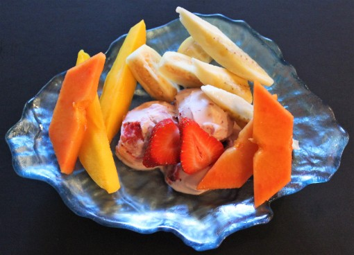 Suzie's Home Made Ice Cream with Tropical Fruit