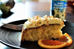 Orange coconut cake made with orange blossom water