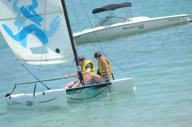 We sailed