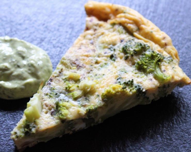 Broccoli Frittata & Green Goddess sauce
